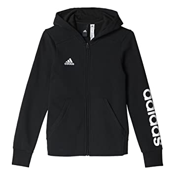 Adidas Girls Yg Linear Full Zip Hd Sweatshirt Amazoncouk Sports