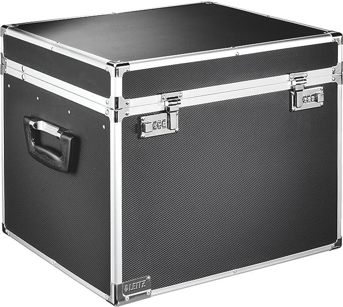Leitz Vaultz - Caja de archivo de seguridad portátil, tamaño folio, color negro: Amazon.es: Oficina y papelería