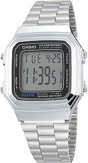 896d4913ec46 Casio Reloj Digital para Unisex de Automático con Correa en Acero  Inoxidable Chapado en Platino A