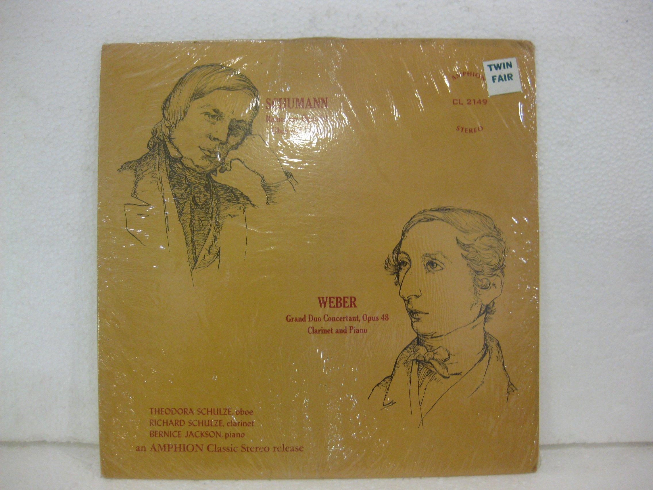 Schumann Romances Opus 94 Oboe And Piano Weber