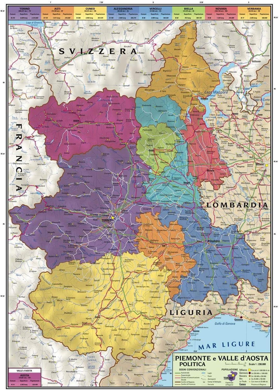 Cartina Geografica Piemonte Valle D Aosta.Carta Geografica Murale Regionale Piemonte E Valle D Aosta 100x140 Bifacciale Fisica E Politica Amazon It Cancelleria E Prodotti Per Ufficio