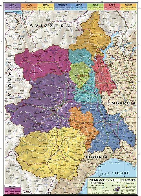 Cartina Fisico Politica Valle D Aosta.Carta Geografica Murale Regionale Piemonte E Valle D Aosta 100x140 Bifacciale Fisica E Politica Amazon It Cancelleria E Prodotti Per Ufficio