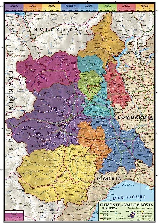 Svizzera Cartina Geografica Politica.Carta Geografica Murale Regionale Piemonte E Valle D Aosta 100x140 Bifacciale Fisica E Politica Amazon It Cancelleria E Prodotti Per Ufficio