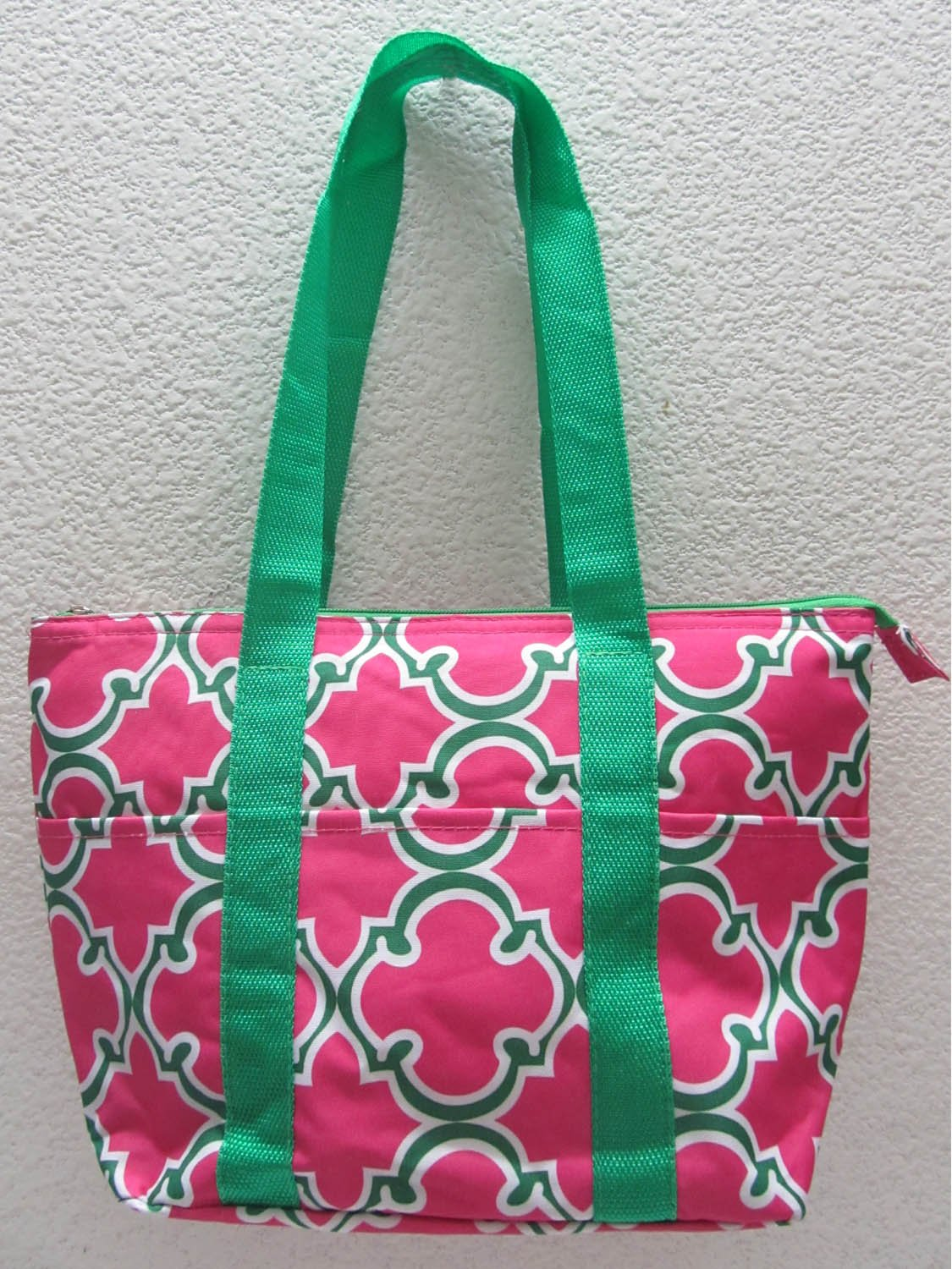 Good Bag Insulated Lunch Bag Portable Carry Storage Lunch Tote Bag - Pink Quatrefoil