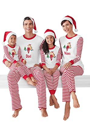 Christmas Stripes Family Matching Pajamas Carson Mon Dad Pjs Sets Sleepwear   Amazon.co.uk  Clothing 31855aeb2