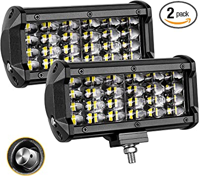 4x 6inch Single Row LED Spot Work Light Bar Pods Driving OffRoad Tractor 4WD 12V