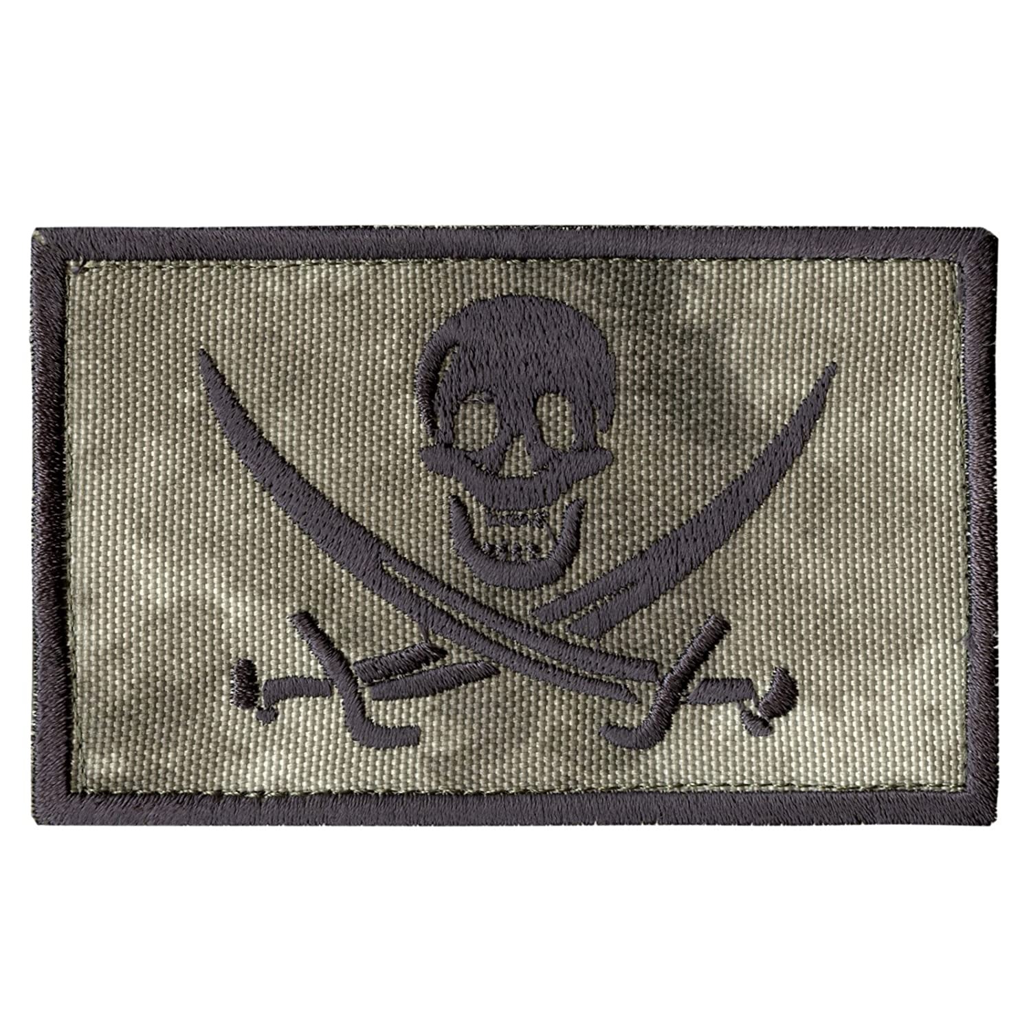 2AFTER1 A-TACS AU Calico Jack Skull Arid Pirate Jolly Roger Morale ISAF Sew Iron on Patch P.0682.702.C