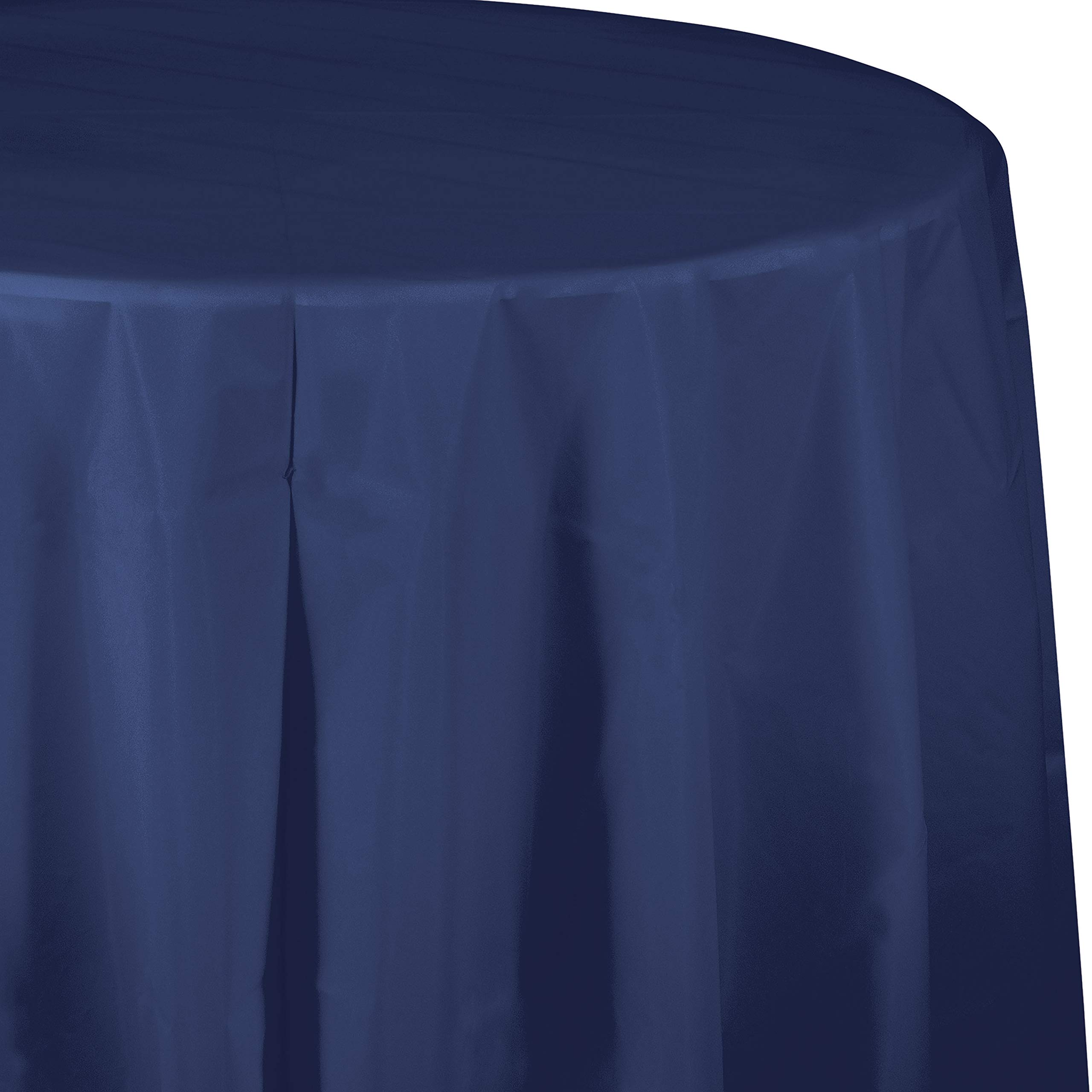 Navy Blue Round Plastic Tablecloths, 3 ct by Creative Converting