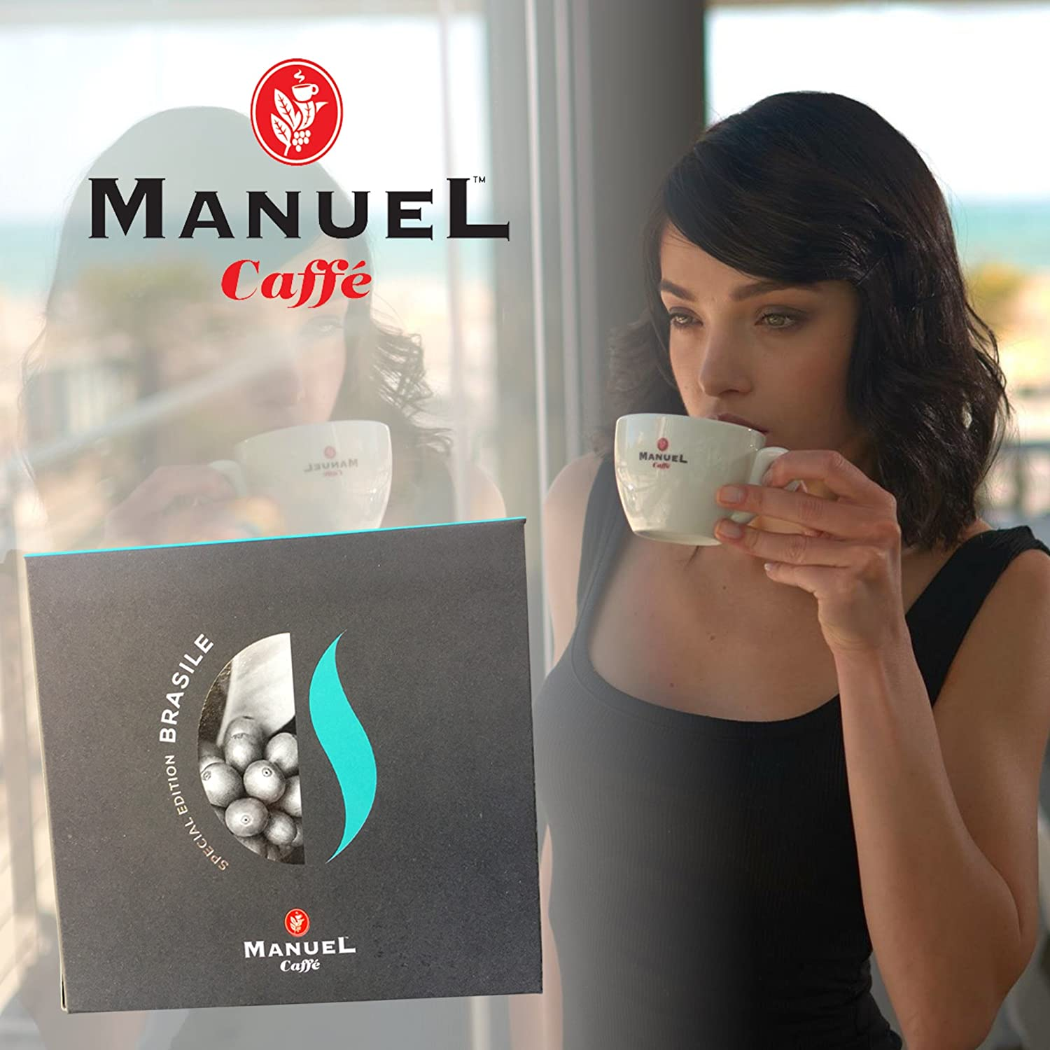 Roasted Italian Premium Espresso, Manuel Caffe. Intense Aroma, Fine And Mild, Aromatic In The Cup. Thick Crema. See Other Roast Selection In Our Amazon ...