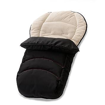 Hauck 562017 - Saco para las piernas (2 en 1: verano/invierno), color negro