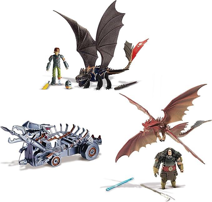 64746Spin Master 6023190 DreamWorks Dragons Power Dragons Attack Set NEU OVP