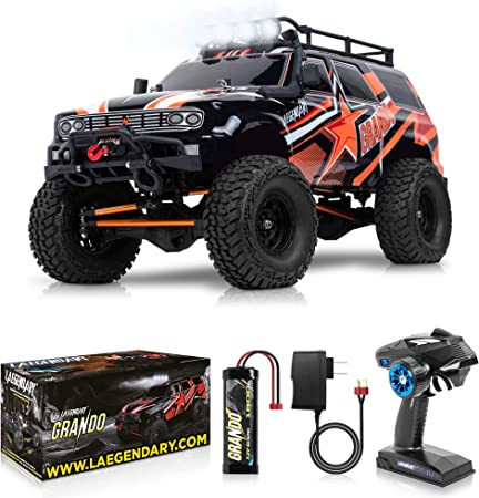 1 10 Scale Large Rc Rock Crawler 4wd Off Road Rc Cars Remote Control Car 4x4 Electric Truck Ipx5 Waterproof Trucks For Adults Rtr With 5ch Remote Battery