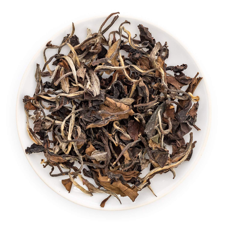 Oriarm 500g / 17.64oz Chinese Shou Mei Loose Leaf Tea - Fuding White Tea Mei Long Life Eyebrow - Low Caffine Level