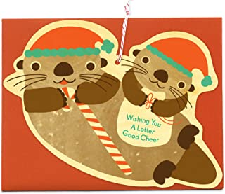 product image for Santa Otters Wood Holiday Card by Night Owl Paper Goods