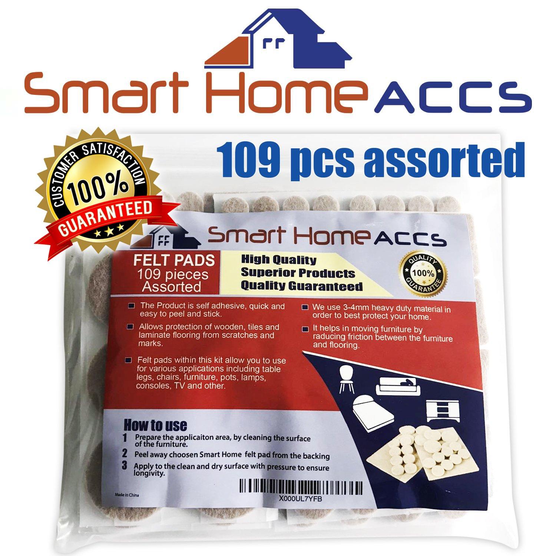 Smart Home Accs feltrini per mobili piedi 109/pz assortiti adesivo mobili imbottito