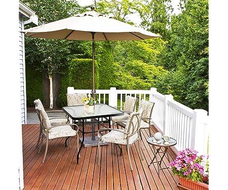 Tangkula Patio Table Outdoor Garden