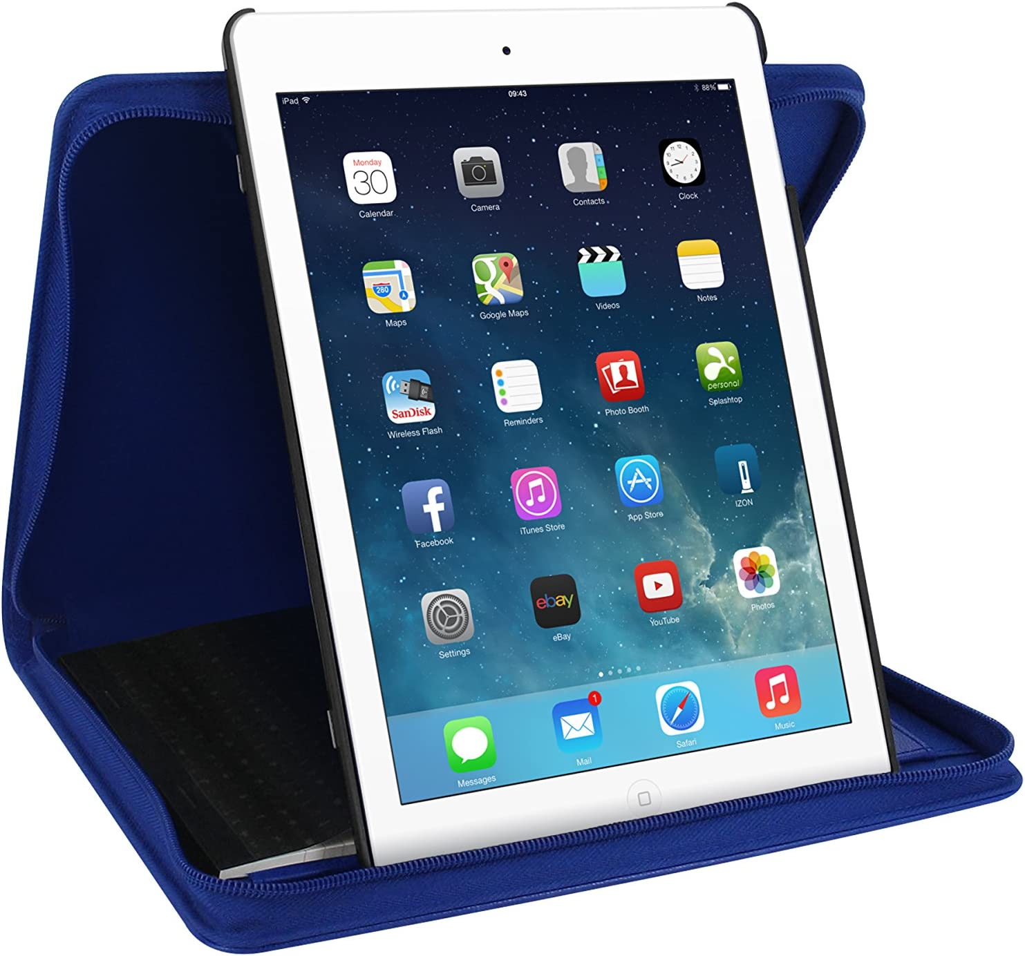 Amazon Com Filofax Pennybridge Case For Ipad Air Blue Computers Accessories