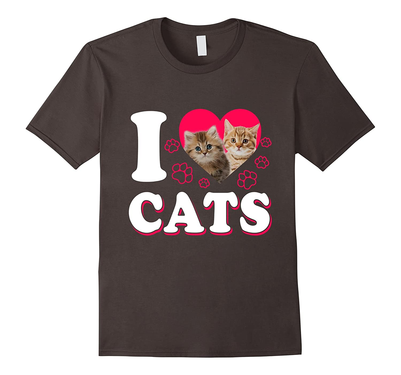 """I love Cats"" Cute Cat T-Shirt"