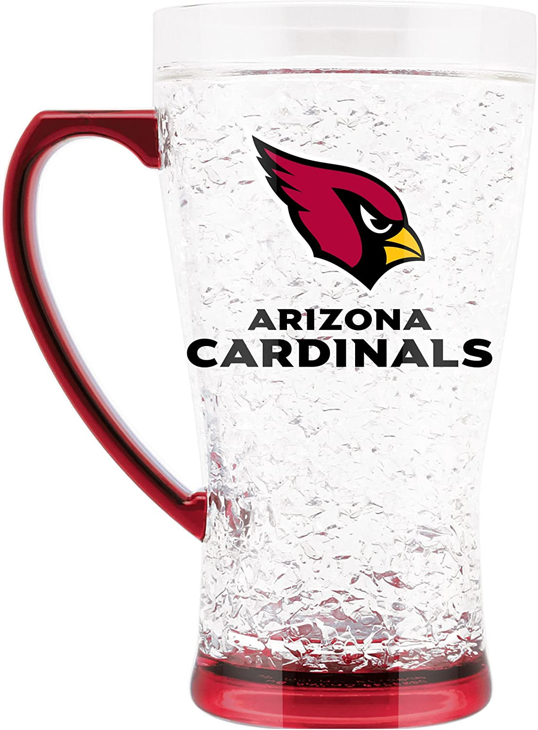 NFL Arizona Cardinals 16oz Crystal Freezer Flared Mug