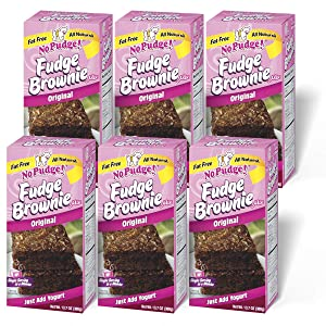 No Pudge! Fat Free Fudge Brownie Mix, Original, 13.7-Ounce Boxes (Pack of 6)