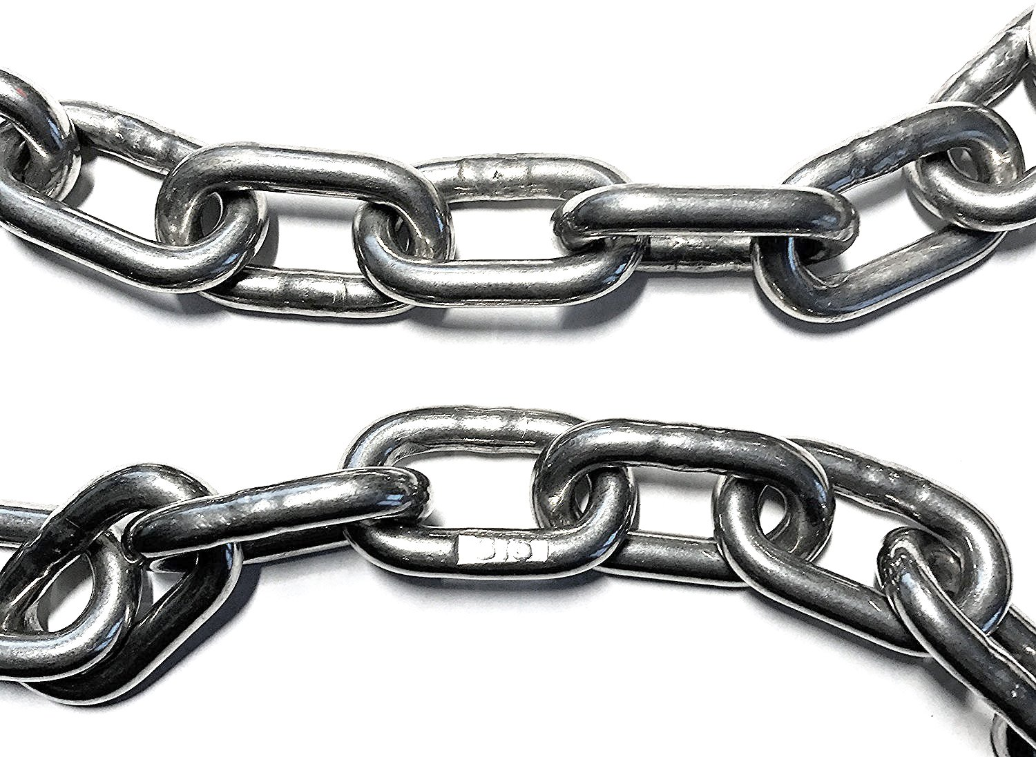"""Stainless Steel 316 Chain 1/4"""" (7mm) Proof Coil Chain (by the foot)"""