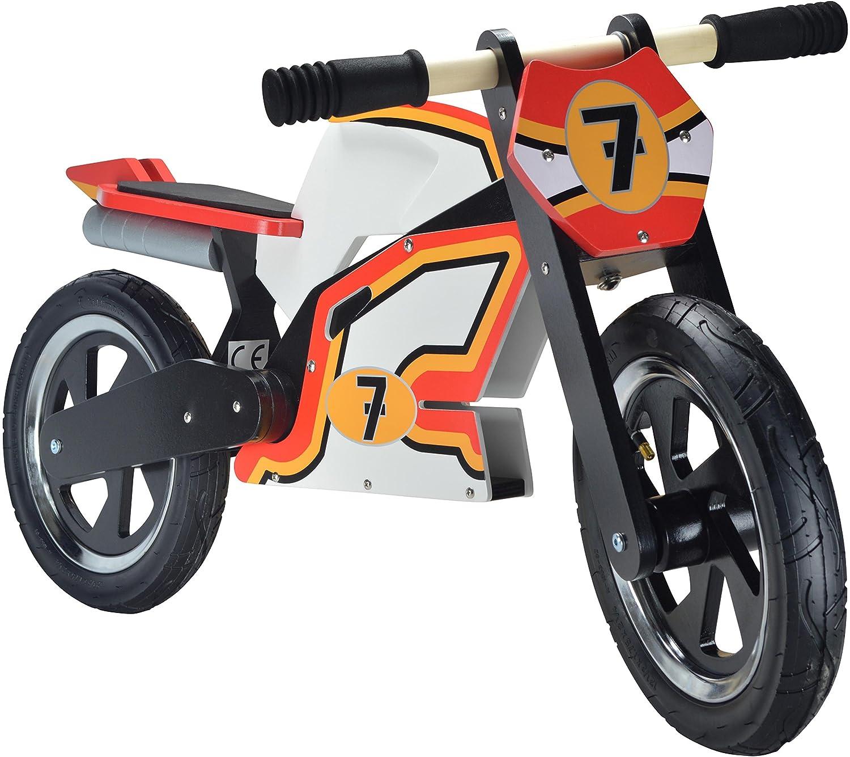 Kiddimoto Kids Hero Super Wooden Balance Bike Barry Sheene 10