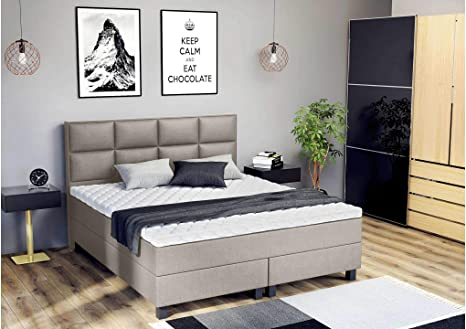 ELESS Lindt - Cama con somier (120 x 140 x 200 cm): Amazon.es ...