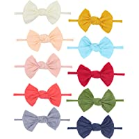 Fancy Clouds Baby Girl Headbands flowers,10 Pack Hair Bows Accessories for Newborn Infant Toddler Gift