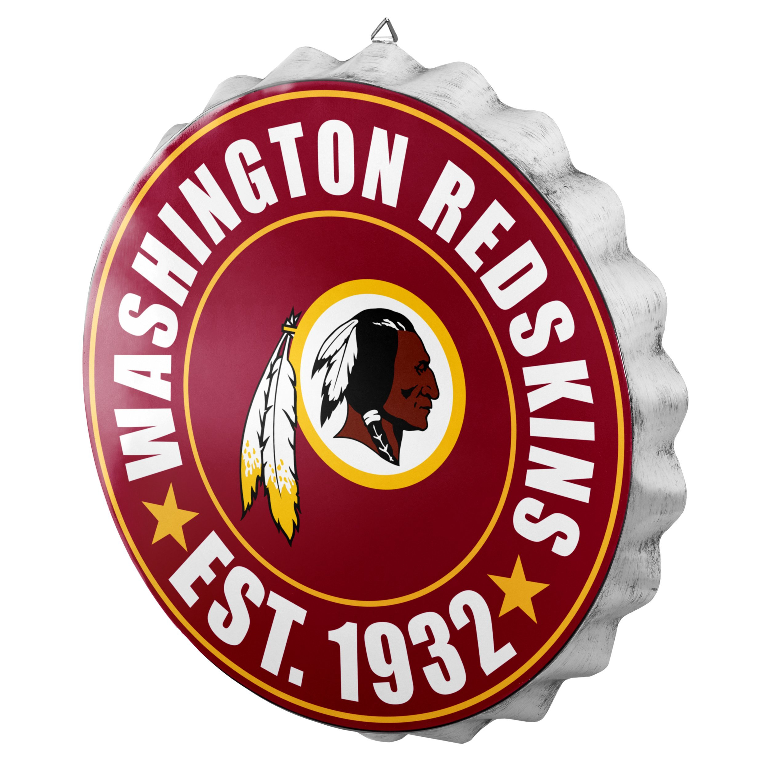Washington Redskins NFL Bottle Cap Wall Sign
