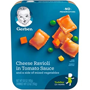 Gerber Graduates Cheese Ravioli in Tomato Sauce with Mixed Vegetables, 6.6 Ounce