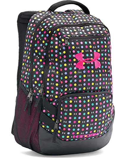 f69845ab11 Amazon.com  Under Armour Girls  Storm Hustle Ii Backpack Black One Size   Sports   Outdoors