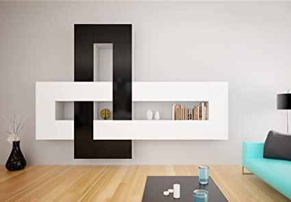 Amazon.com: Brinn Modern Wall Unit/Entertainment Center/Many Price ...