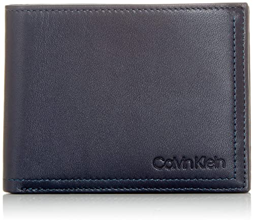 Calvin Klein - Smooth Essential5cc Coin, Carteras Hombre, Azul (Navy), 9.5x12.4x1.9 cm (B x H T): Amazon.es: Zapatos y complementos