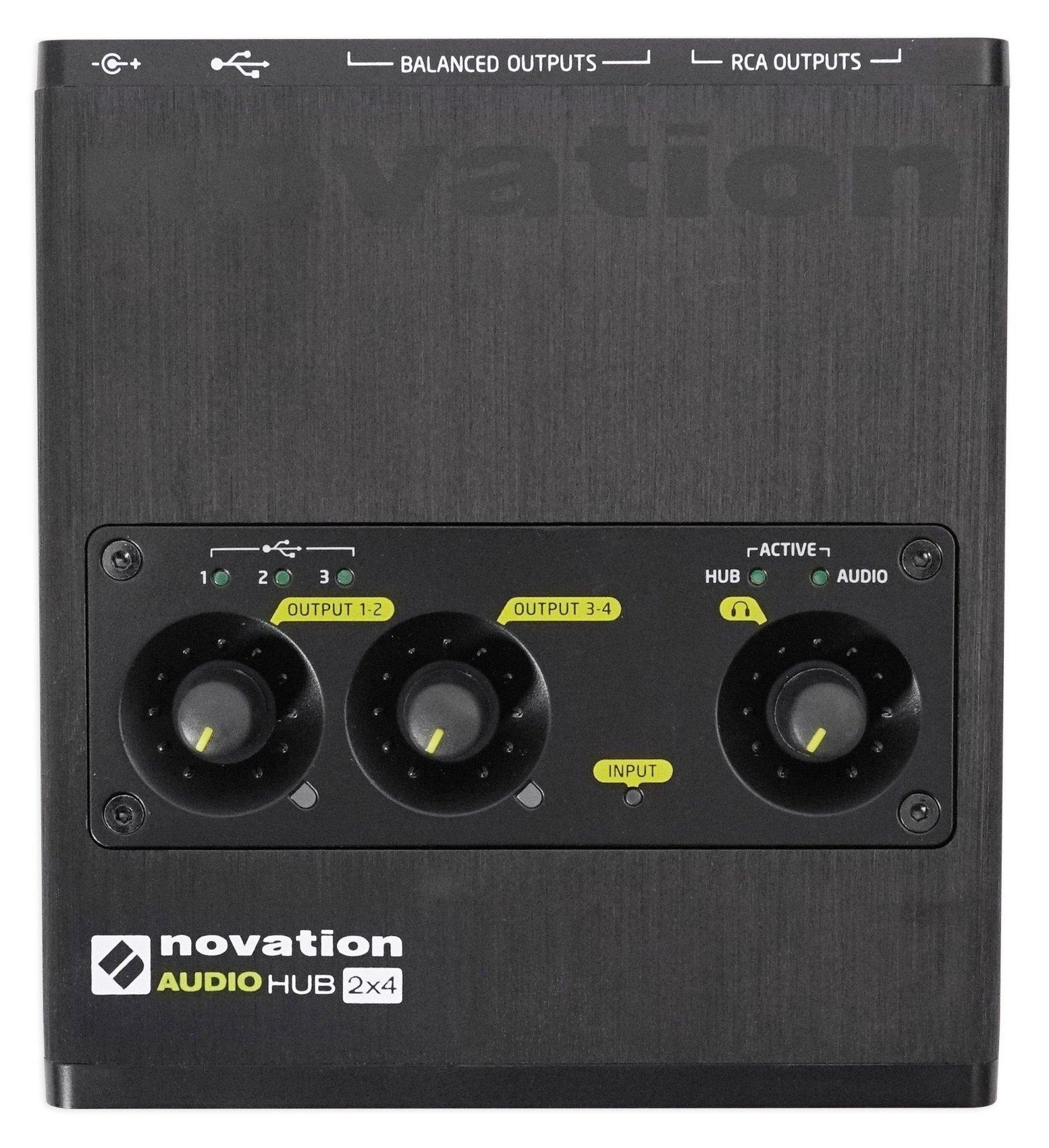 Novation Audiohub 2x4 Combined Audio Interface and USB 2.0 Hub