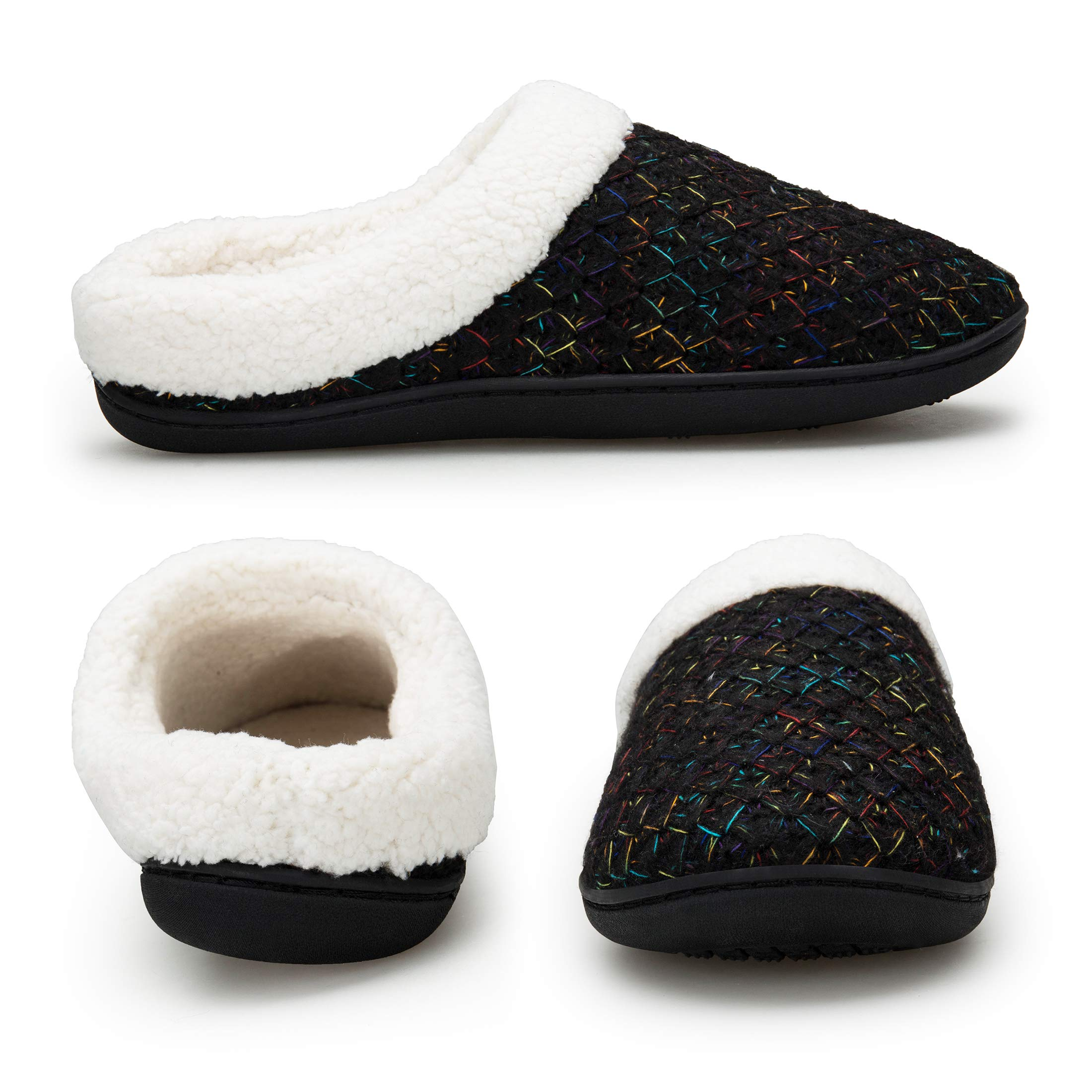 EAST LANDER Women's Memory Foam House Slippers Washable Anti-Slip Slippers Indoor ShoesELMT002-W1-L