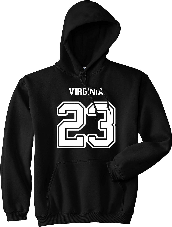 Kings Of NY Sport Style Virginia 23 Team State Jersey Mens Pullover Hoodie Hoody