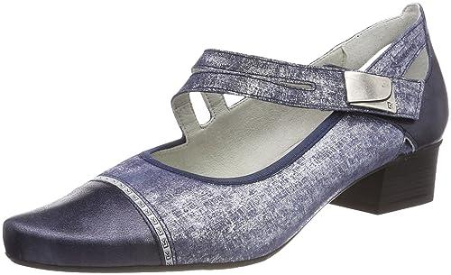 Leap, Zapatos de Tacón con Punta Cerrada para Mujer, Azul (Navy 030), 39 EU Hotter