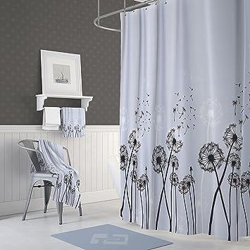 Amazon Com Dandelion Flower Shower Curtain Nature Spring Floral