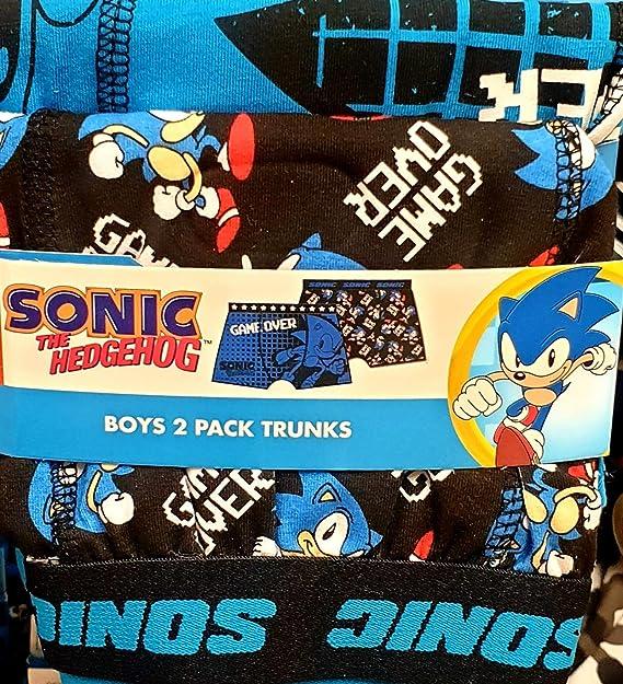 Primark Limited Sega Sonic The Hedgehog - Calzoncillos (2 Pares) Azul, Negro, Blanco. 7-8 Años: Amazon.es: Ropa y accesorios