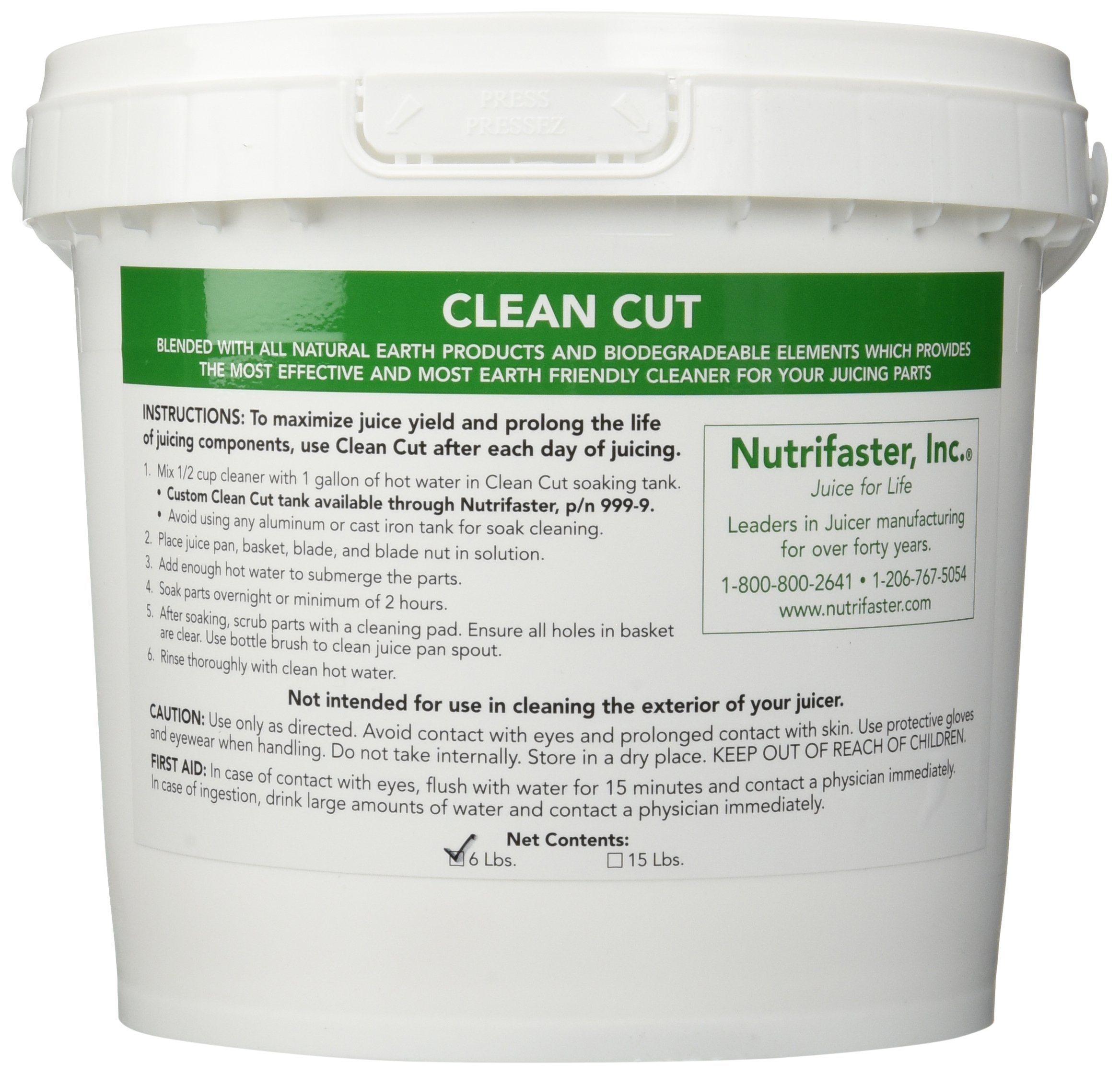 Nutrifaster Clean Cut, 15 lb Cleaner for Kitchen Appliance