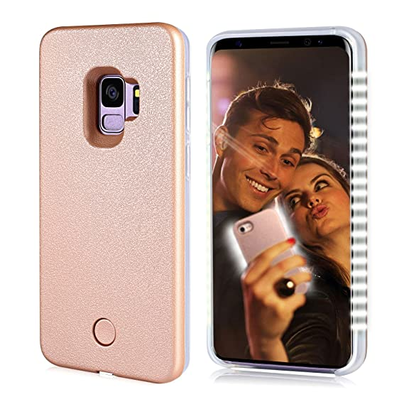 best website 5973d 34a60 S9 Light up Case, FULLOPTO Selfie Light Case with High Brightness LED Light  Illuminated Selfie Light Phone Case Cover Rechargeable Protective Cell ...
