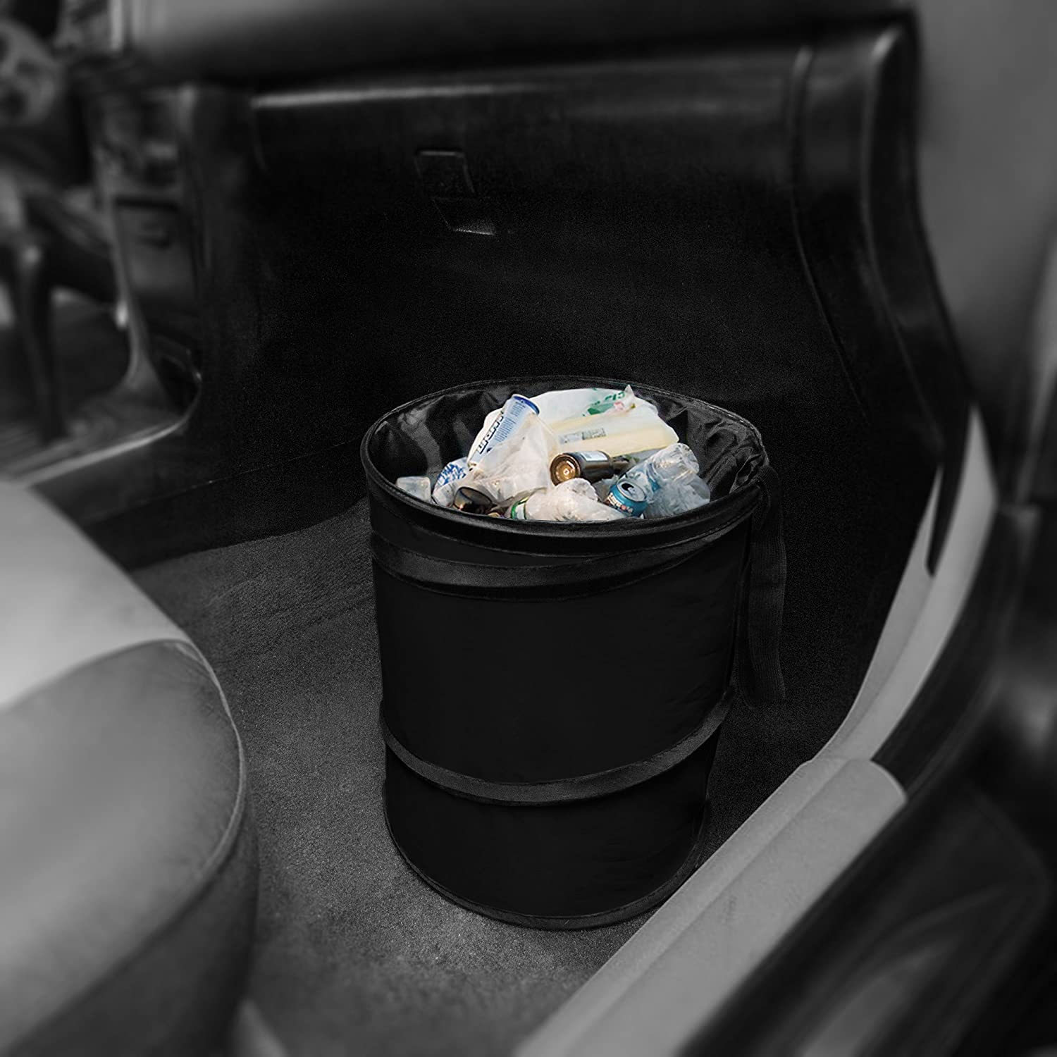 Collapsible and Compact Size Large FH Group FH1121BEIGE Beige Car Garbage Trash Can