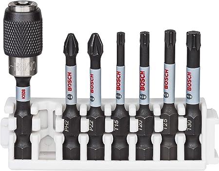 Pick and Click, Accessoires pour visseuse /à Percussion Bosch Professional 260925C159 8 Assortiment dembouts de vissage et de forets de pr/écision Impact Control