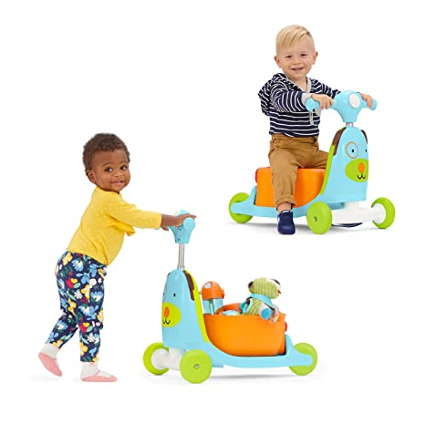 Skip Hop Kids 3-in-1 Baby Activity Walker & Ride On Scooter Wagon Toy, Dog
