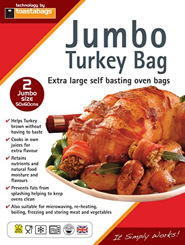 Roasting bags, 55 x 60 cm jumbo (Pack of 2)