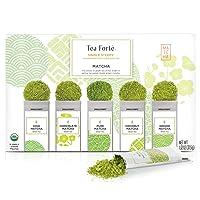 Deals on 15-Piece Tea Forte SINGLE STEEPS Organic Matcha Powder Green Tea