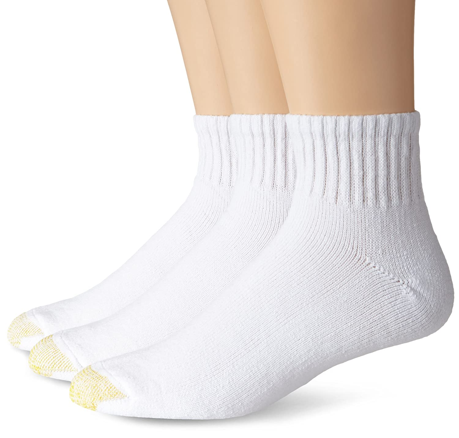 Gold Toe Men's Ultra Tec Quarter Three-Pack Extended Socks White 13-15 Gold Toe Moretz - Men's 2186E