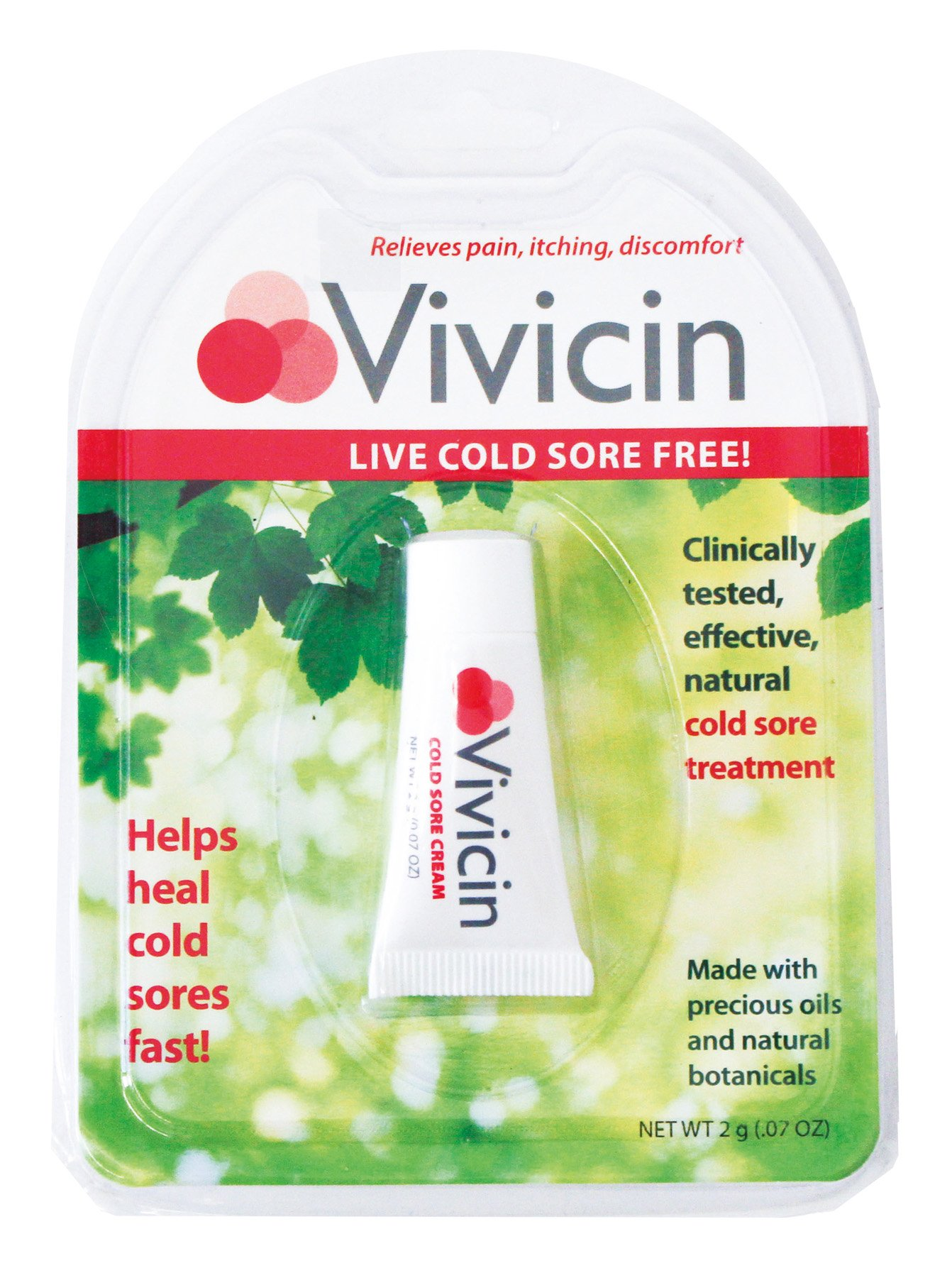 Natural Cold Sore Treatment, .07 Oz, from Vivicin