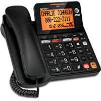 AT&T CD4930 Corded Phone with Digital Answering System and Caller ID, Extra-Large Tilt Display & Buttons, Black