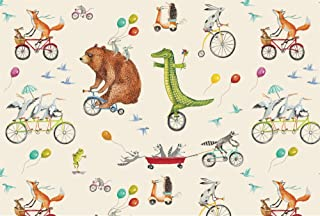 product image for Hester & Cook Nice Wheels Paper Placemats, Pad of 24